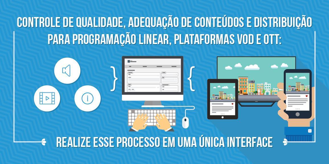 Controle de qualidade, adequação de conteúdos e distribuição para programação linear, plataformas VOD e OTT: realize esse processo em uma única interface