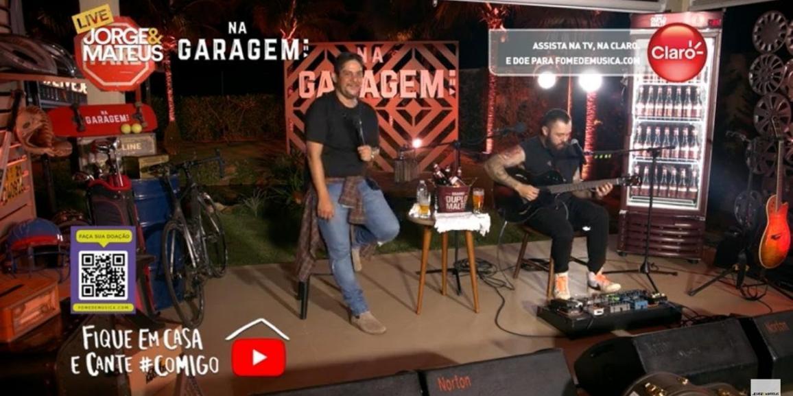 Jorge & Mateus – Maior Live da história com 3.1 milhões de acessos simultâneos no YouTube foi transmitida também nos canais da Claro TV, Like e Canal 500, ambos operados com tecnologia DIGILAB.