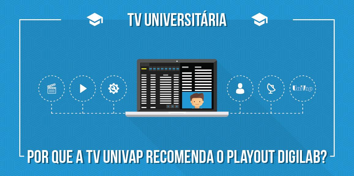 TV Universitária: Por que a TV Univap recomenda o Playout Digilab?