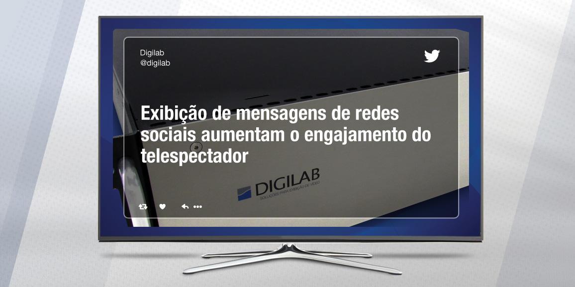 Exibição de mensagens de redes sociais aumentam o engajamento do telespectador